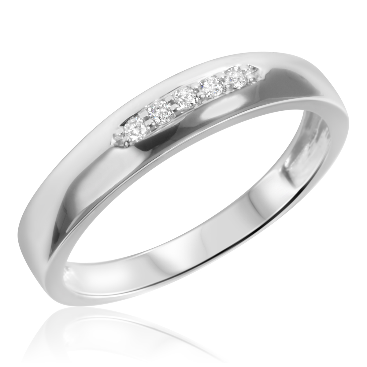 1 5 carat t w his and hers wedding band set 10k