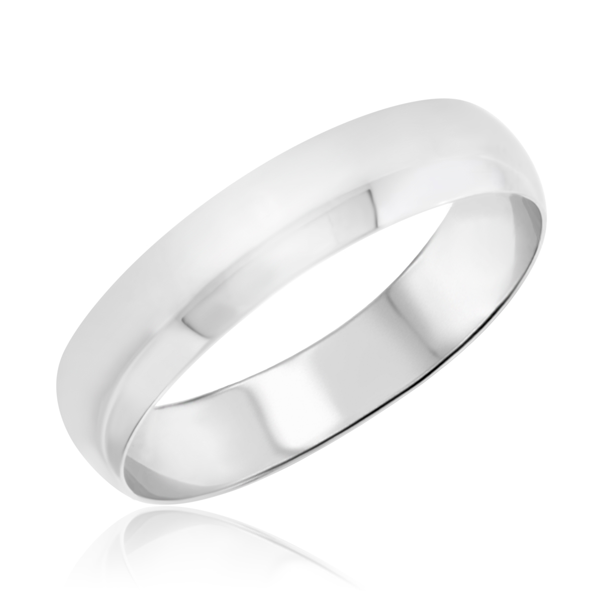 Traditional Wedding Band Set 10K White Gold My Trio Rings