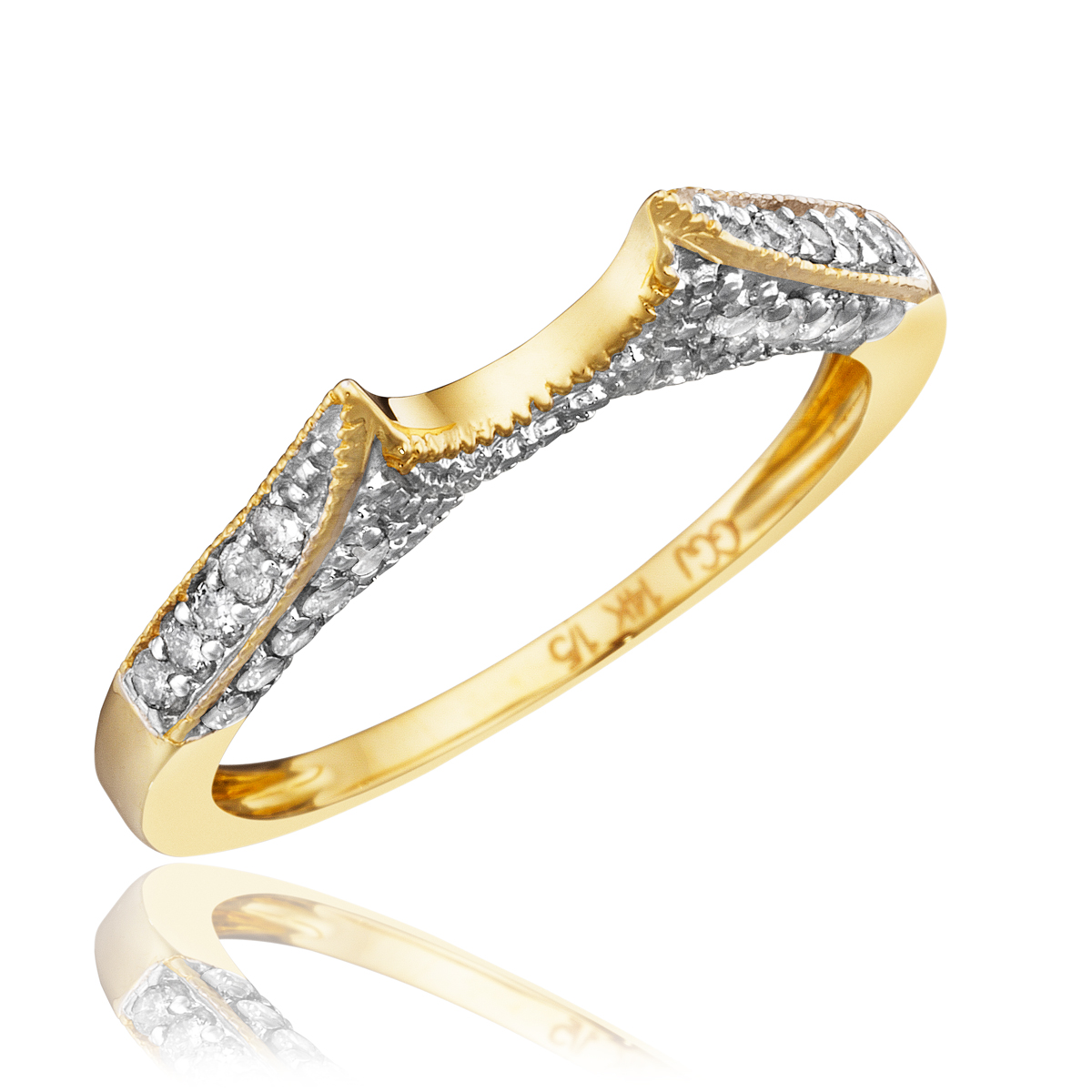 1 carat trio wedding ring set 14k yellow gold