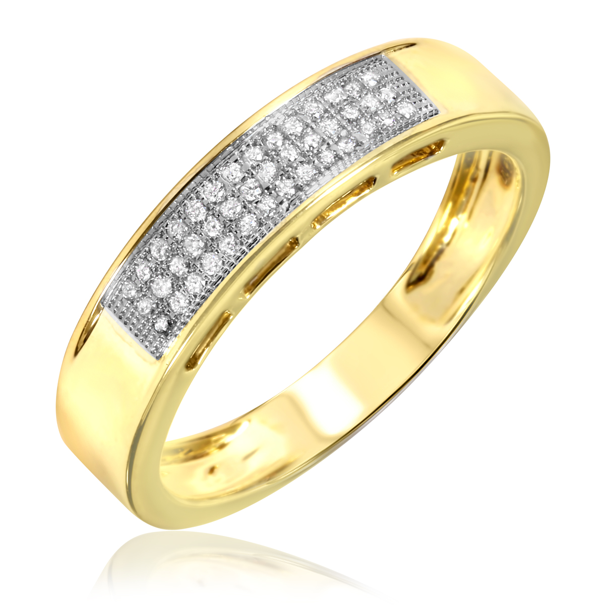 3 8 Carat Diamond Trio Wedding Ring Set 10K Yellow Gold