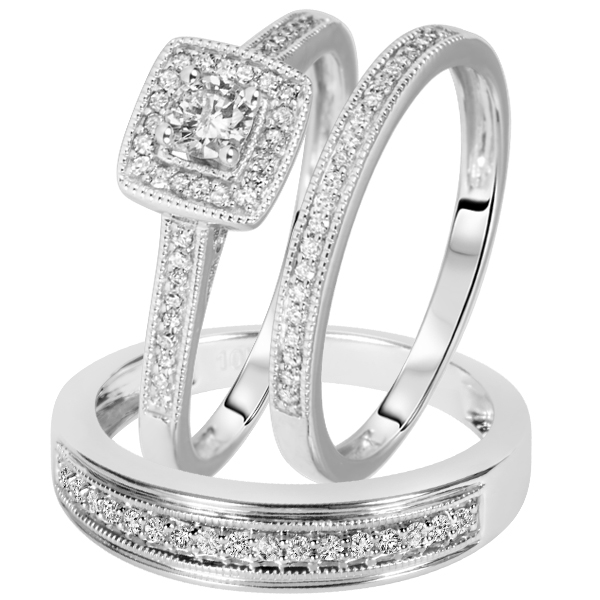 wedding band sets - Affordable Wedding Ring Sets