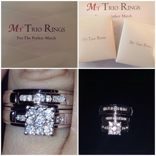 Trio Wedding Set from our Influenster campaign won by our lucky winner Jessica Perez