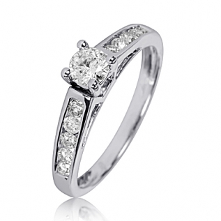 1 2 3 Carat T.W. Diamond Ladies  Engagement Ring 14K White Gold ST505W14KE