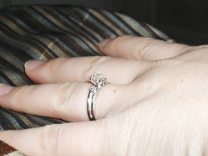 Jana's Engagement ring from My Trio Rings