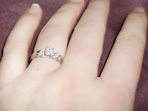 Jana and Jorge's Ring from My Trio Rings