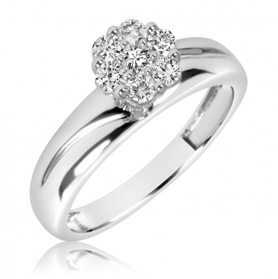 1 3 8 CT. T.W. Diamond Ladies  Engagement Ring 14K White Gold BT539W14KE