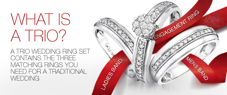 What is a trio ring set?