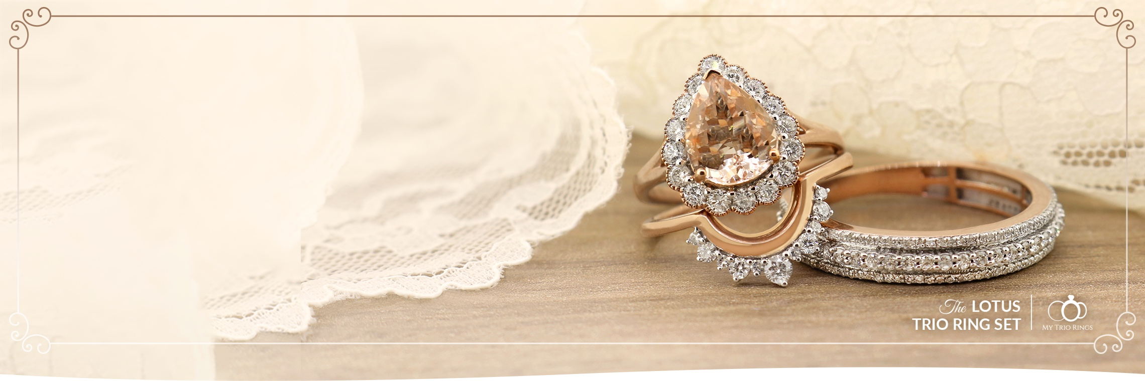 My Trio Rings Morganite Collection