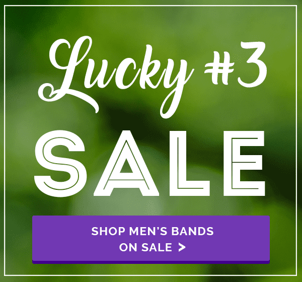 My Trio Rings Lucky #3 Sale Mens Bands Menu Banner
