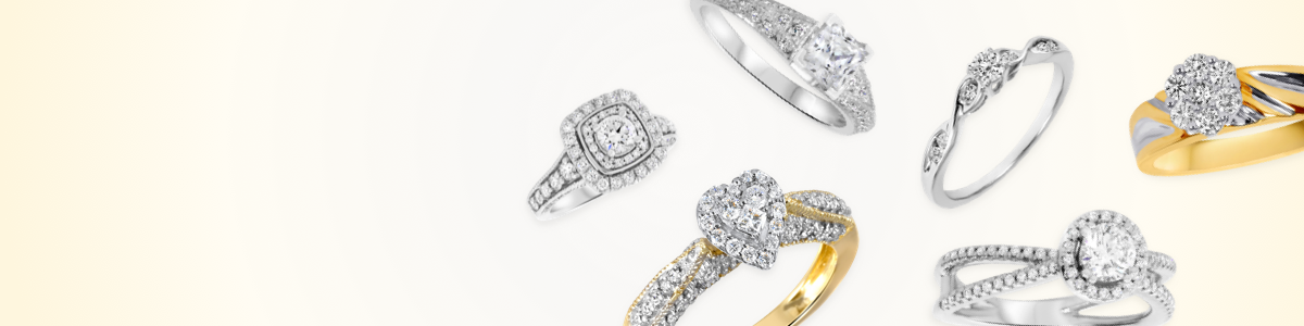 Heart Halo Engagement Rings