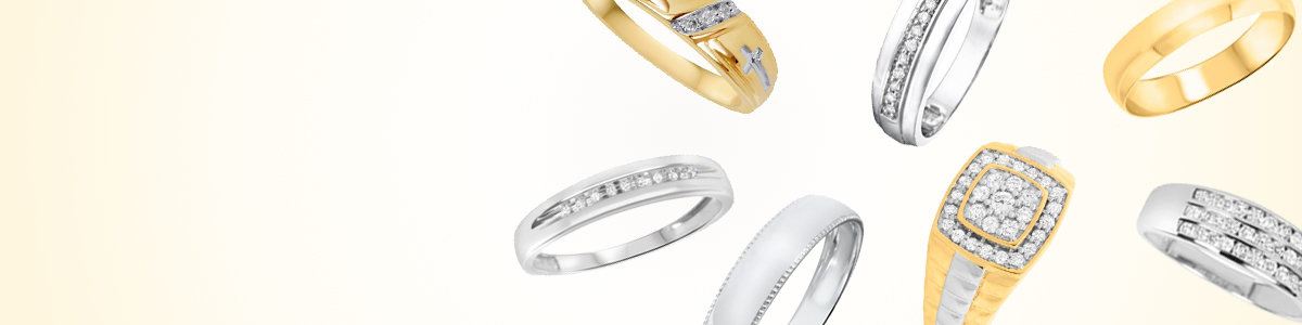 Traditional Gold Mens Bands