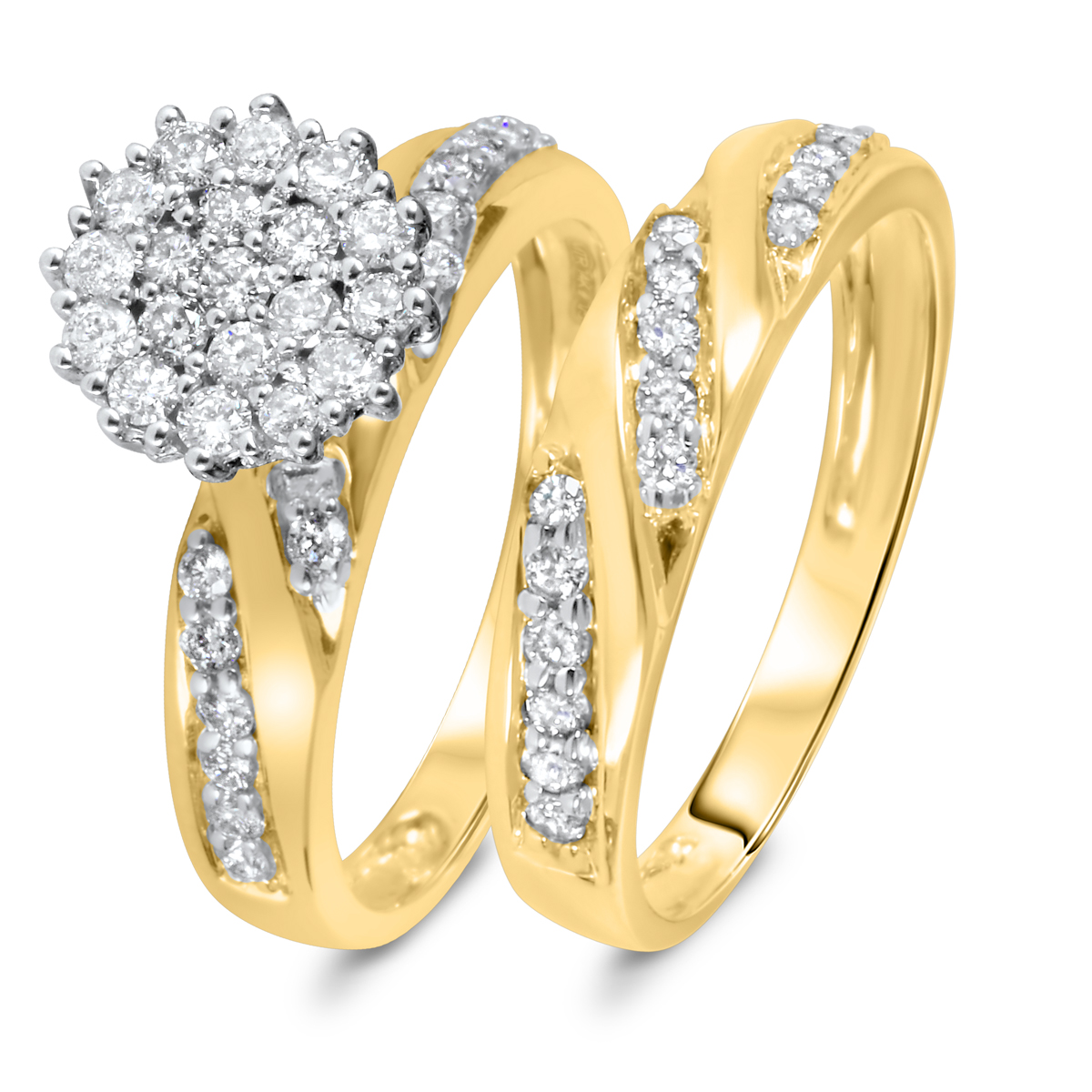 7/8 CT. T.W. Diamond Women's Bridal Wedding Ring Set 10K Yellow Gold