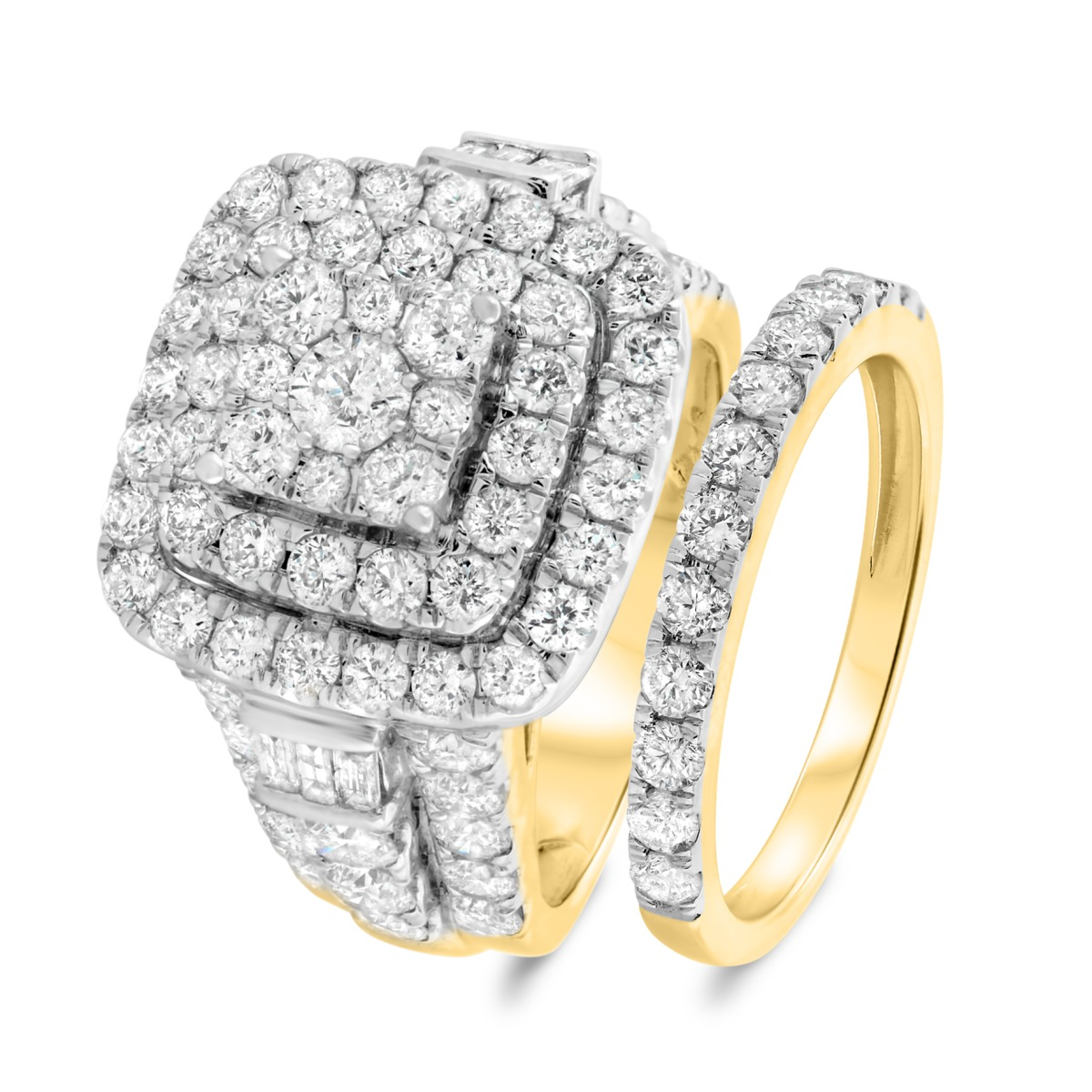 4 3/4 CT. T.W. Diamond Matching Bridal Ring Set 14K Yellow Gold