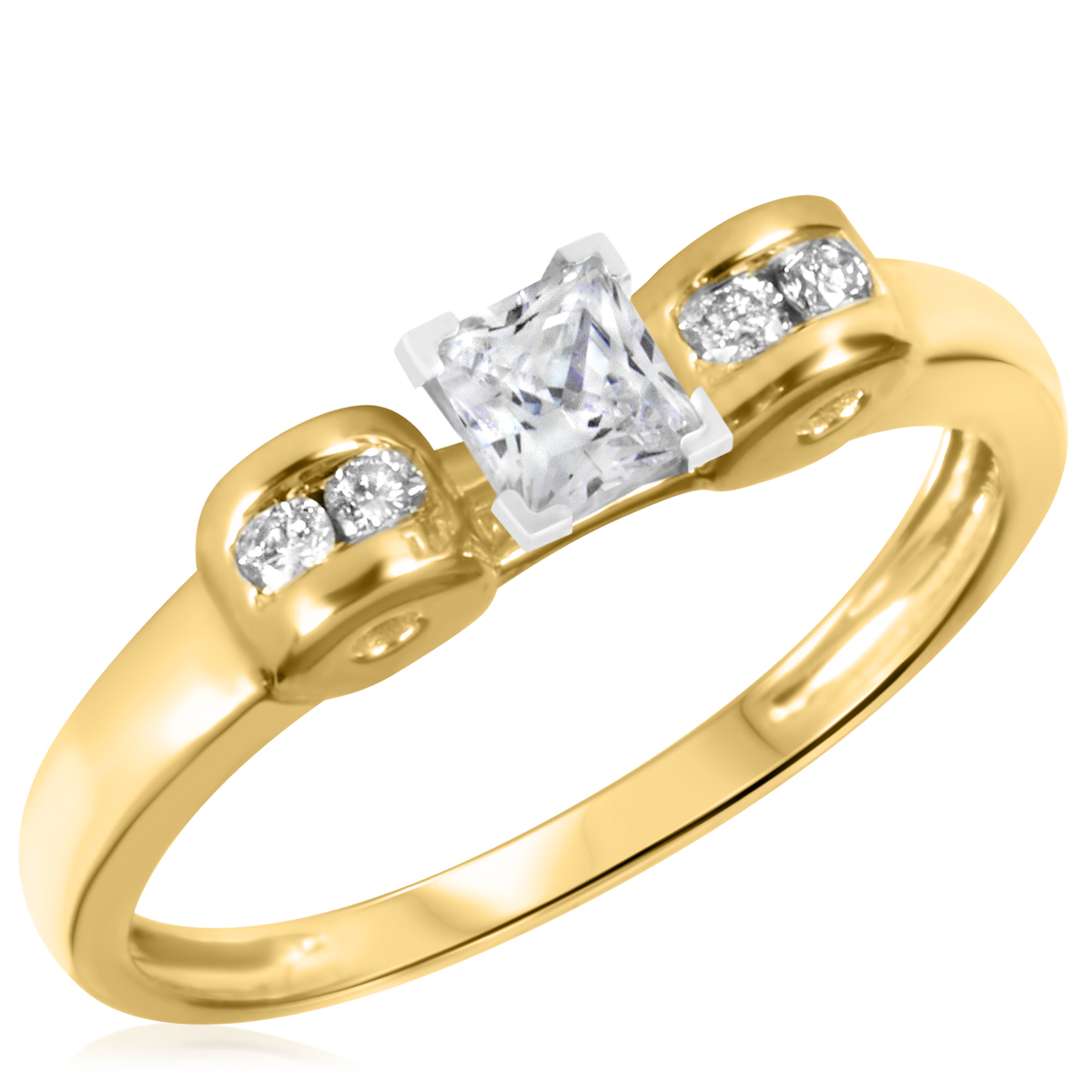 3/8 CT. T.W. Diamond Ladies Engagement Ring 10K Yellow Gold