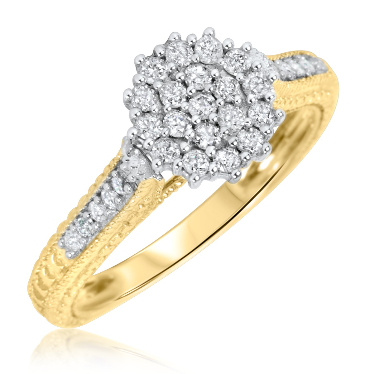 5/8 CT. T.W. Diamond Ladies' Engagement Ring 14K Yellow Gold
