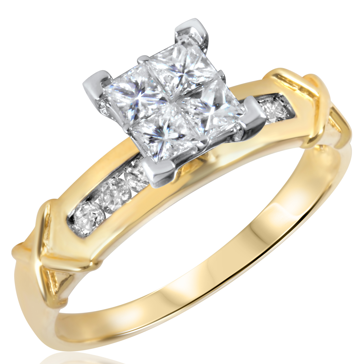 3/4 CT. T.W. Diamond Ladies Engagement Ring 14K Yellow Gold