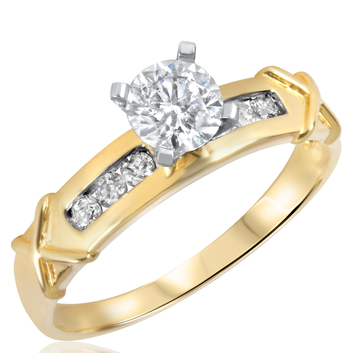 2/3 CT. T.W. Diamond Ladies Engagement Ring 14K Yellow Gold