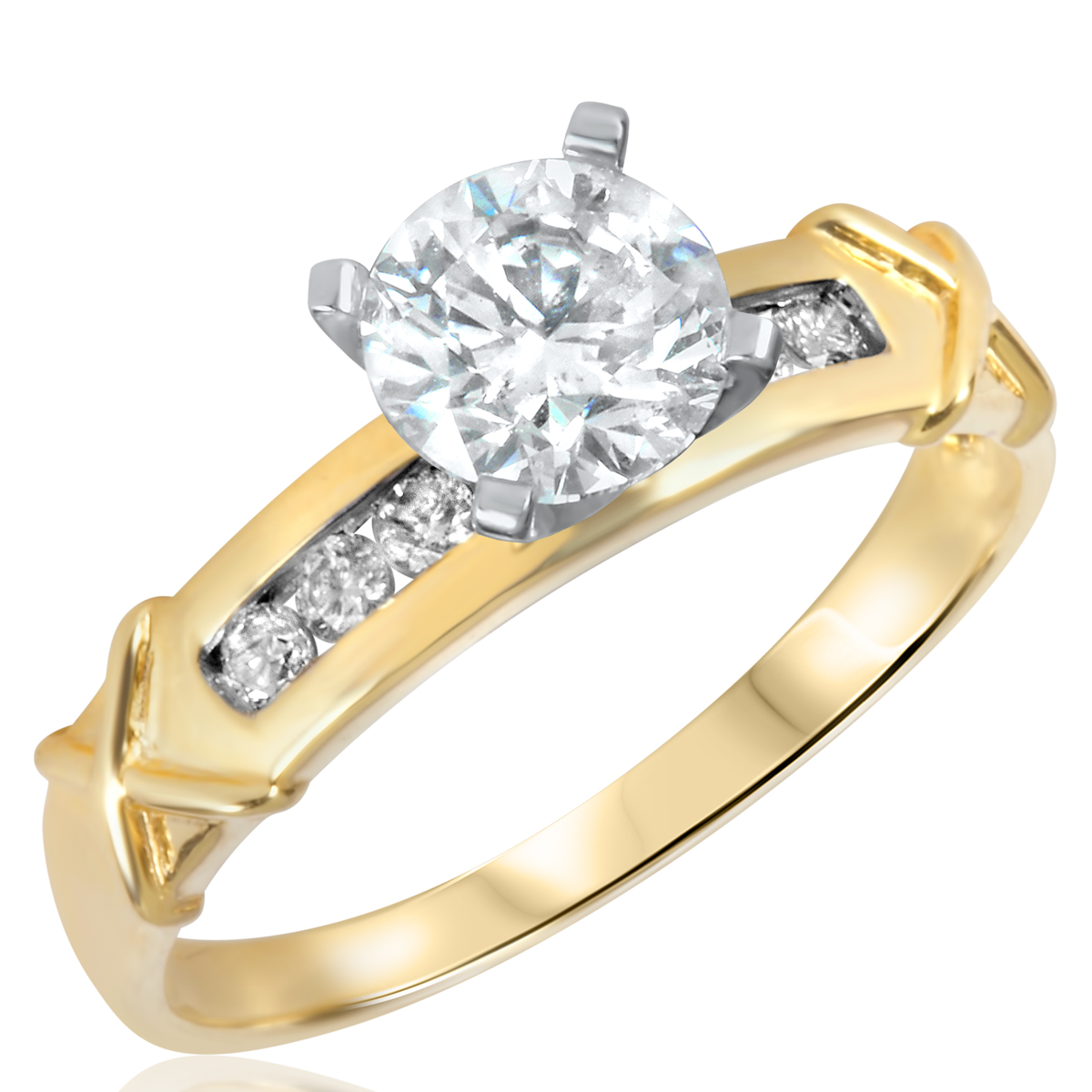 1 1/6 CT. T.W. Diamond Ladies Engagement Ring 14K Yellow Gold