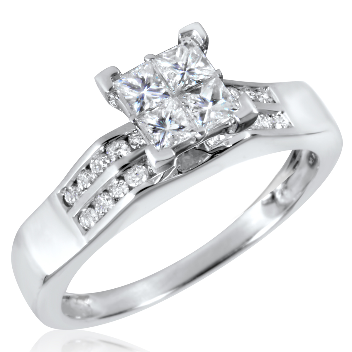 3/4 CT. T.W. Diamond Ladies Engagement Ring 10K White Gold