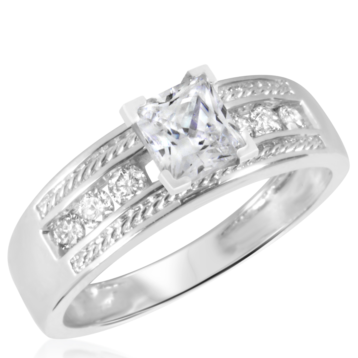 1 1/4 CT. T.W. Diamond Ladies Engagement Ring 14K White Gold