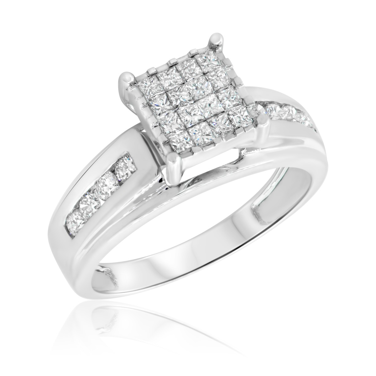 1 CT. T.W. Diamond Ladies' Engagement Ring 14K White Gold