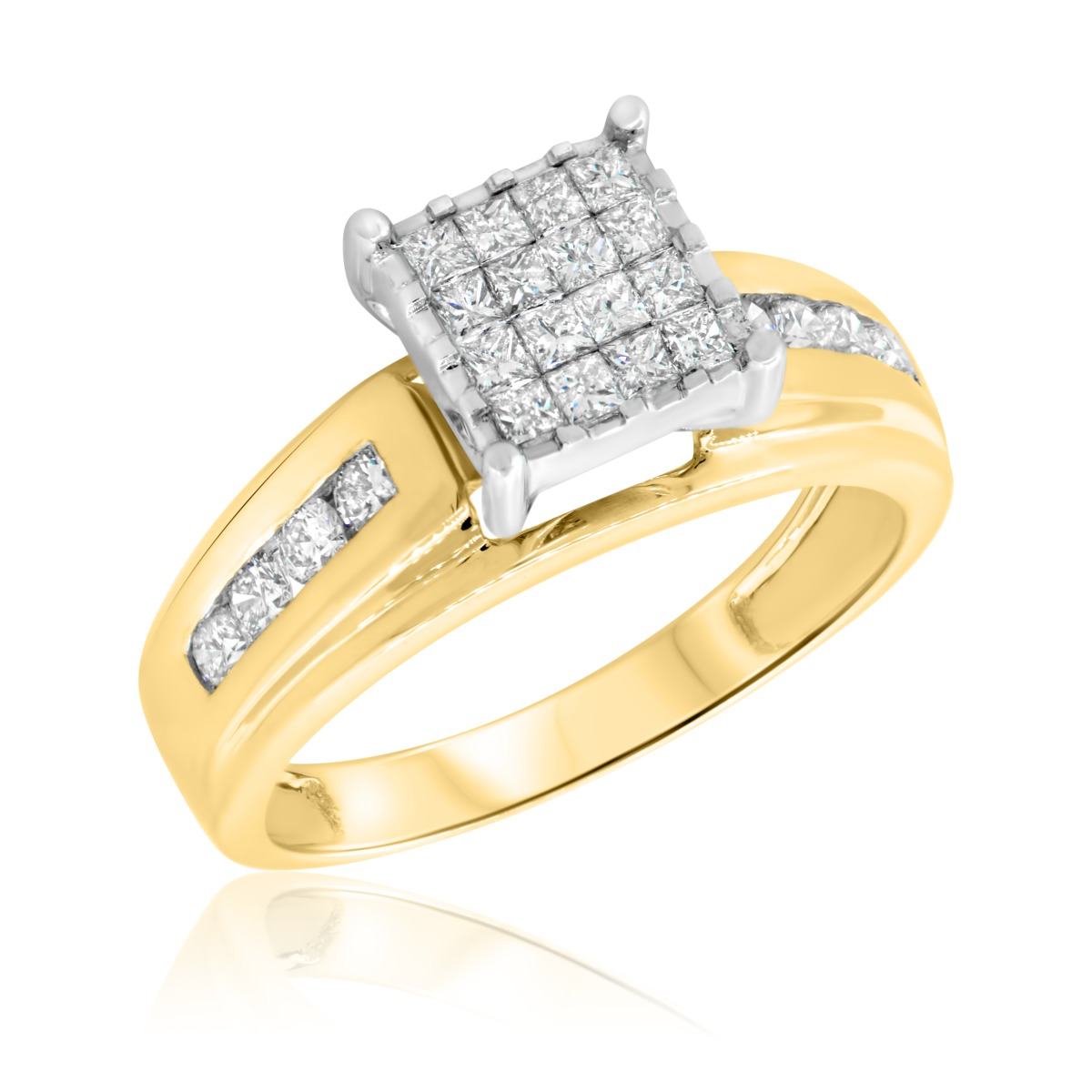 1 CT. T.W. Diamond Ladies' Engagement Ring 10K Yellow Gold