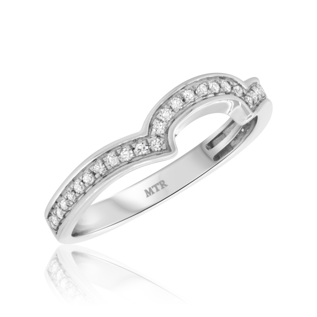 1/4 Carat T.W. Diamond Ladies Wedding Band  14K White Gold
