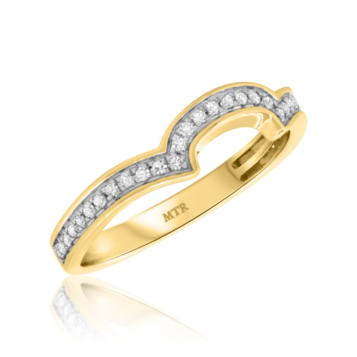 1/4 CT. T.W. Diamond Ladies Wedding Band  10K Yellow Gold