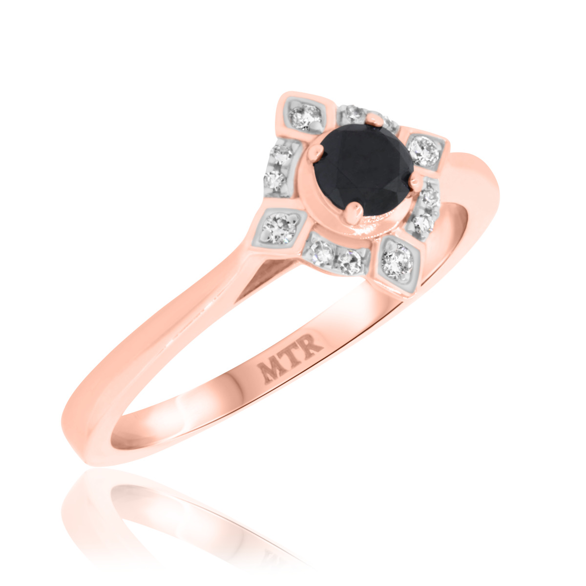 3/8 CT. T.W. Diamond Engagement Ring 14K Rose Gold