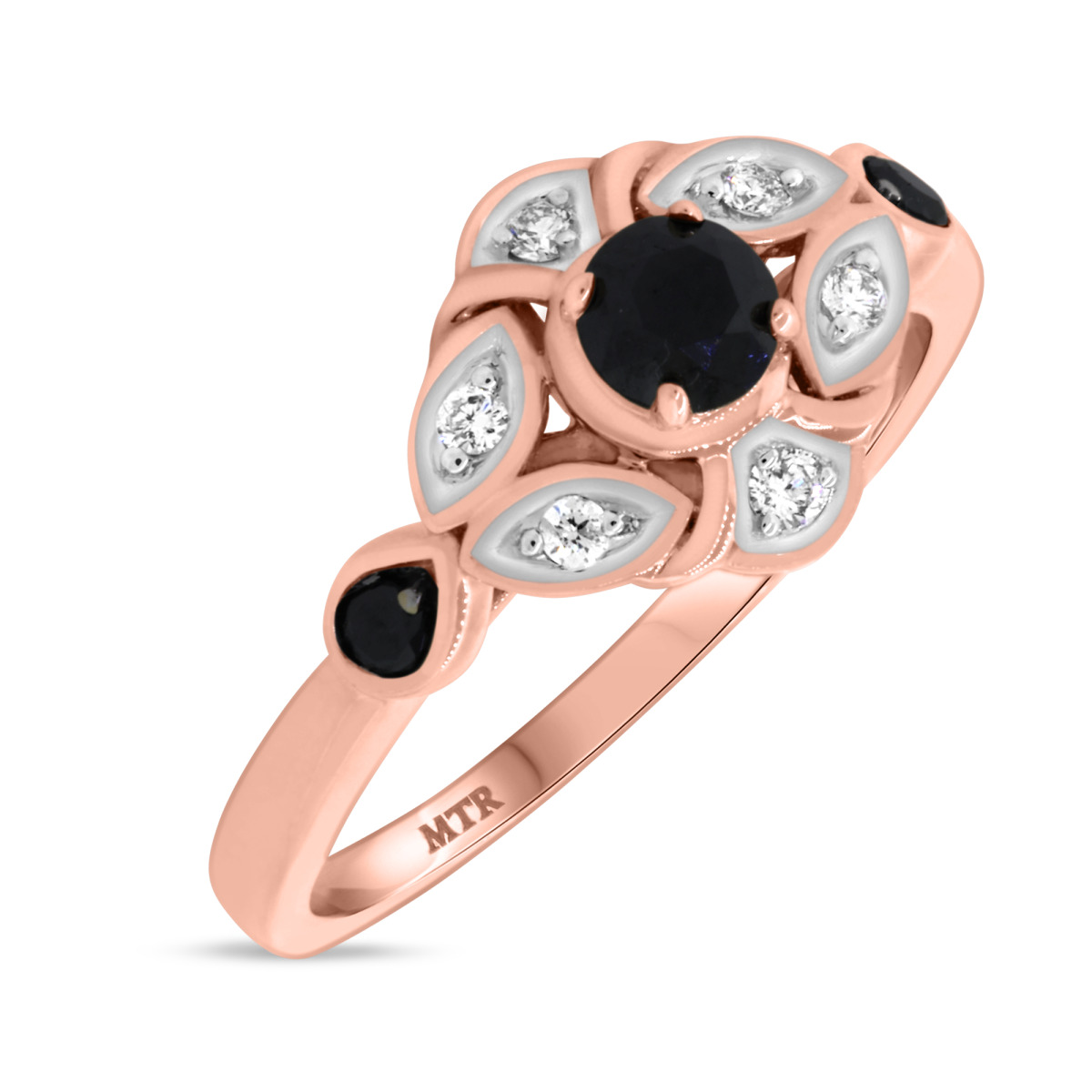 1/2 Carat T.W. Diamond Engagement Ring 14K Rose Gold