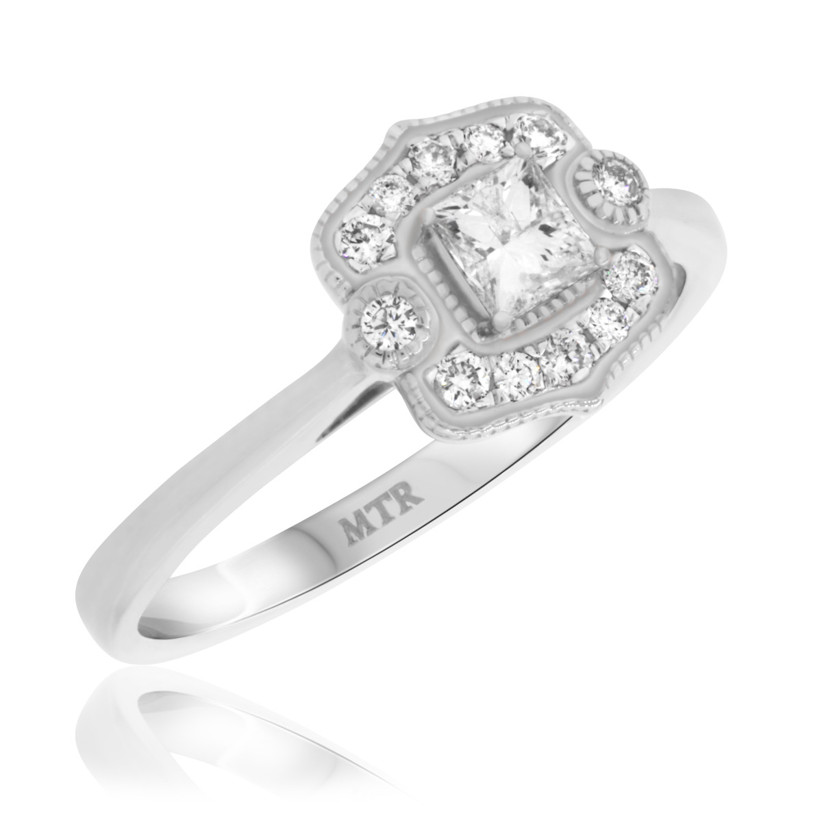 3/8 CT. T.W. Diamond Engagement Ring 14K White Gold