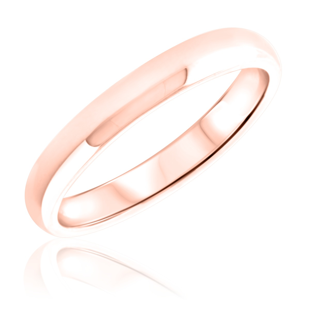 Ladies Wedding Band 10K Rose Gold