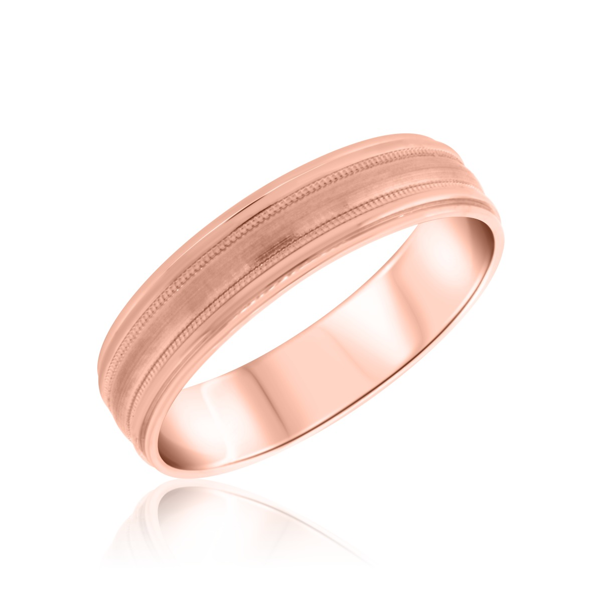 Ladies Wedding Band 14K Rose Gold