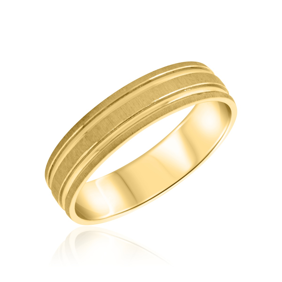 Ladies Wedding Band 14K Yellow Gold