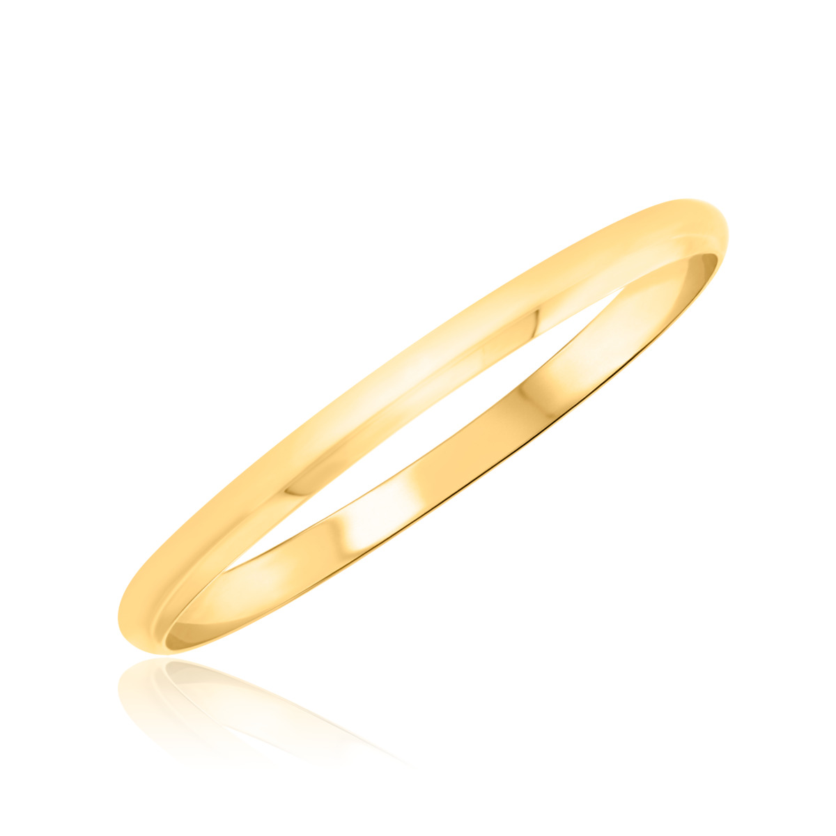 Comfort Fit Ladies Wedding Band 14K Yellow Gold