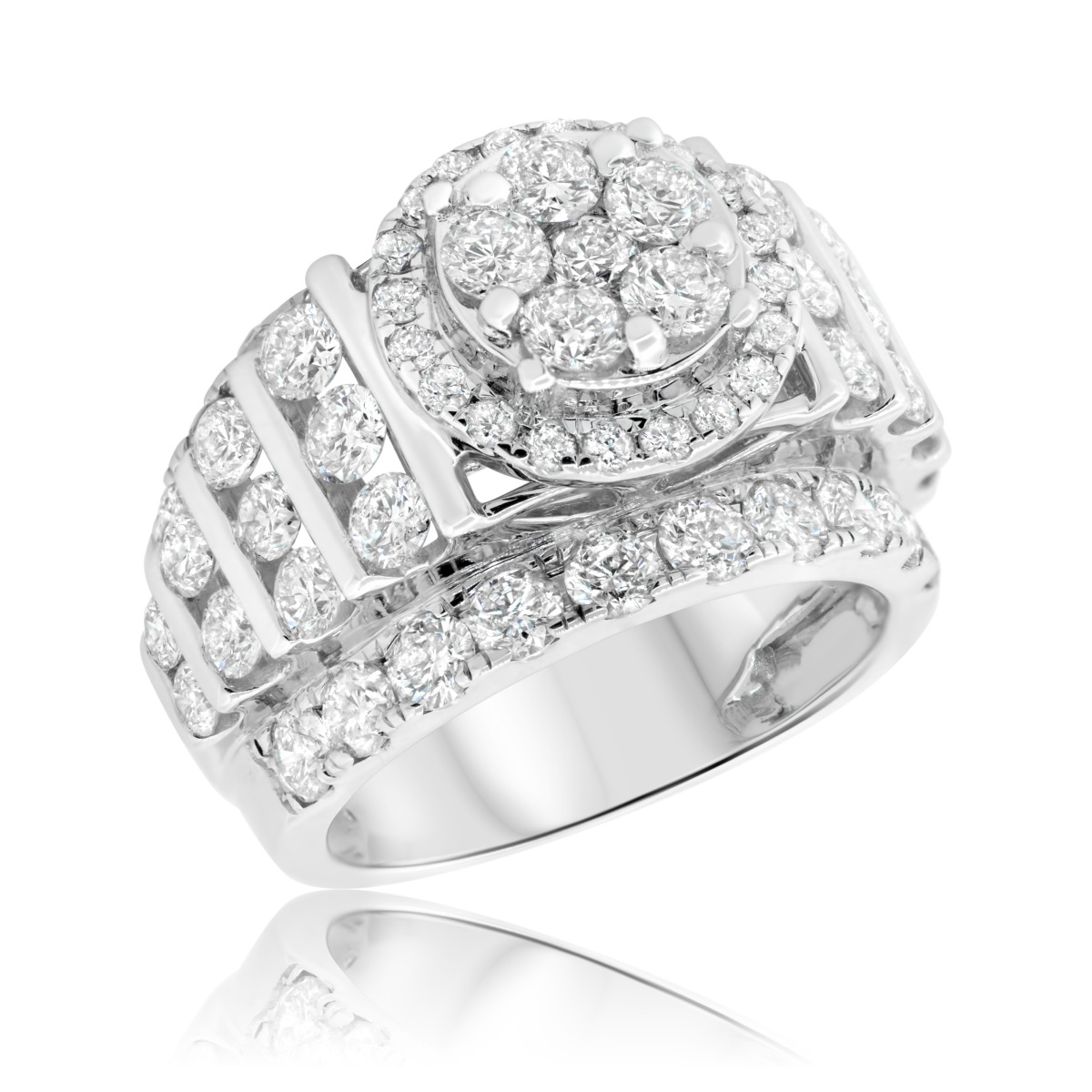 4 CT. T.W. Diamond Engagement Ring 10K White Gold