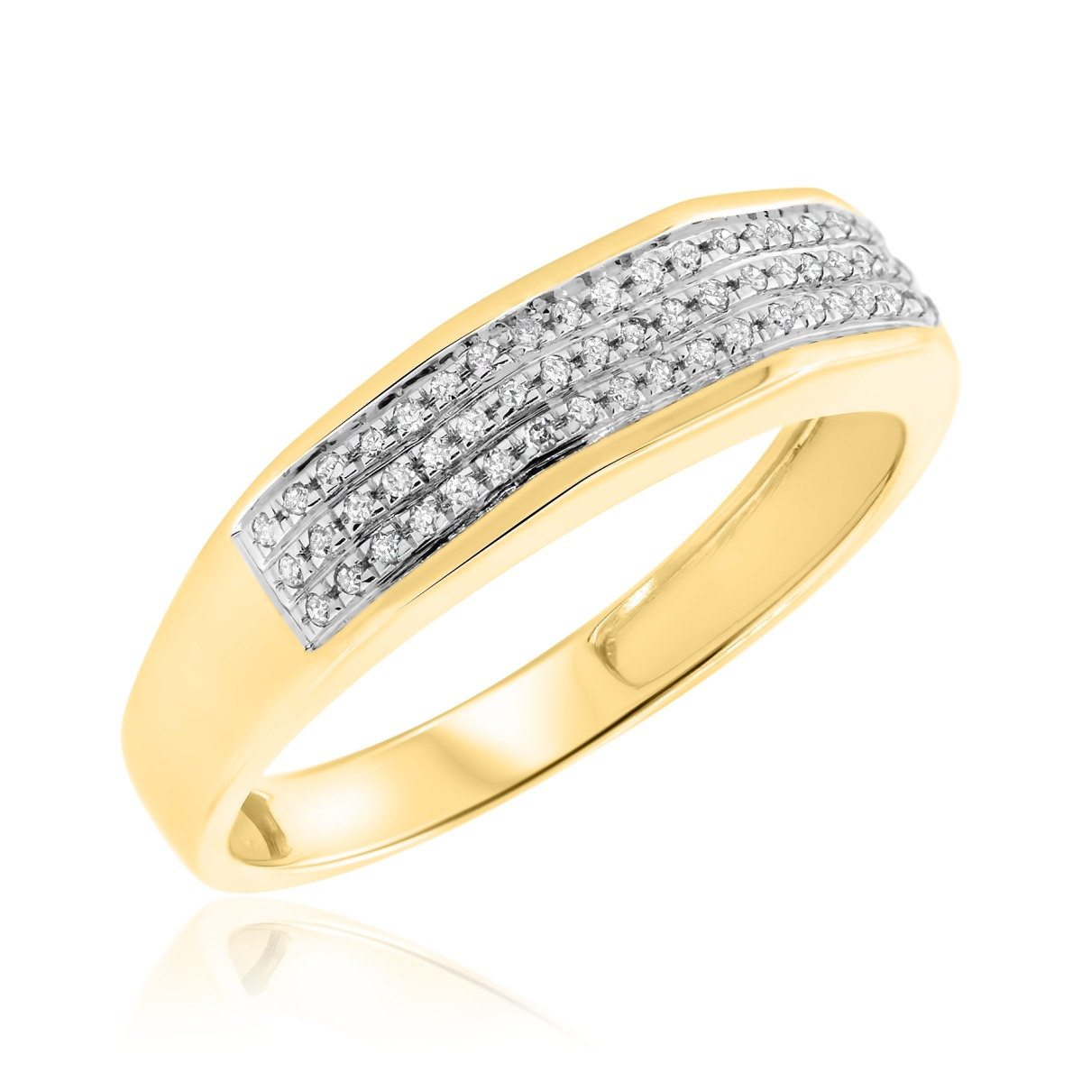 1/10 Carat T.W. Diamond Ladies Wedding Band 10K Yellow Gold