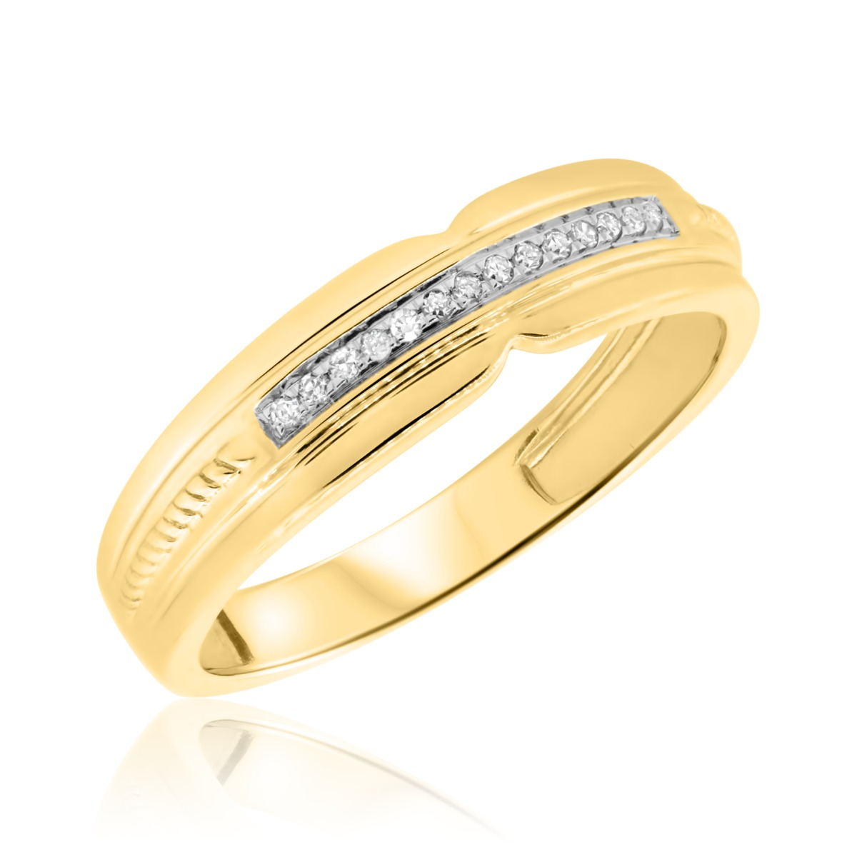1/20 Carat T.W. Diamond Ladies Wedding Band  10K Yellow Gold