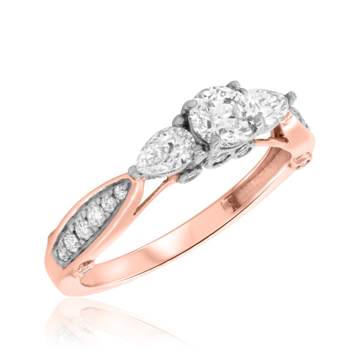 1 CT. T.W. Diamond Engagement Ring 14K Rose Gold