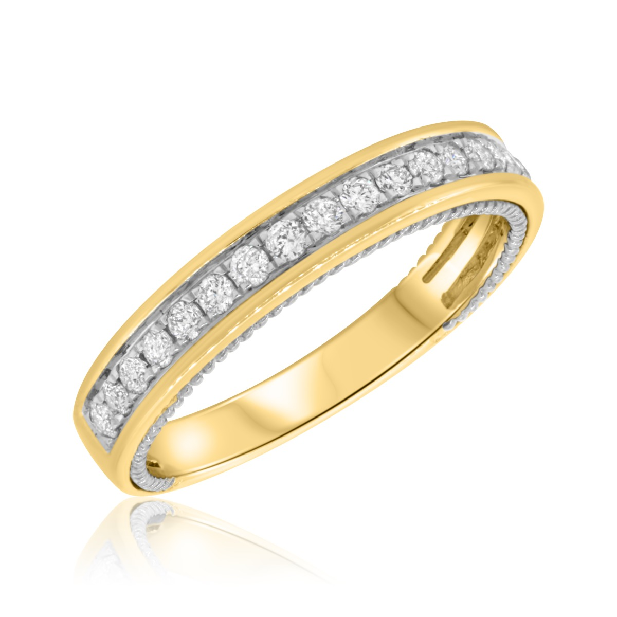 1/5 CT. T.W. Diamond Ladies Wedding Band  10K Yellow Gold