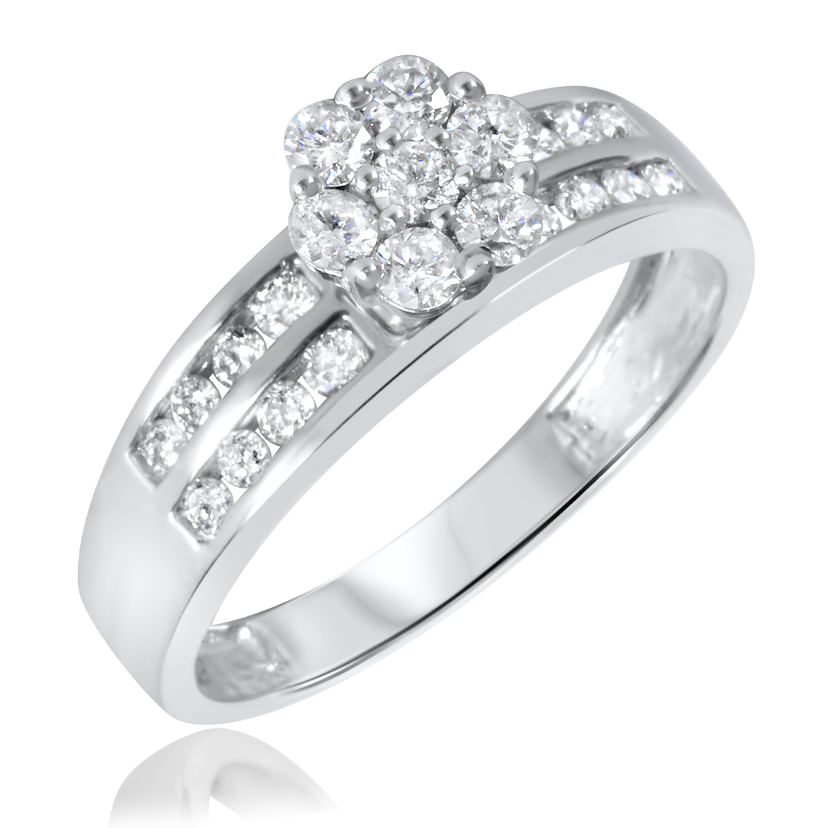 2/3 Carat T.W. Diamond Ladies' Engagement Ring 10K White Gold