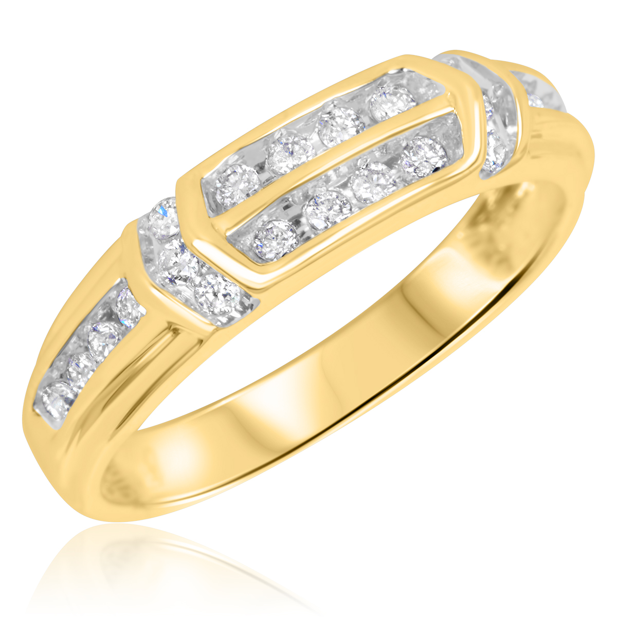 1/4 CT. T.W. Diamond Ladies' Wedding Ring 14K Yellow Gold