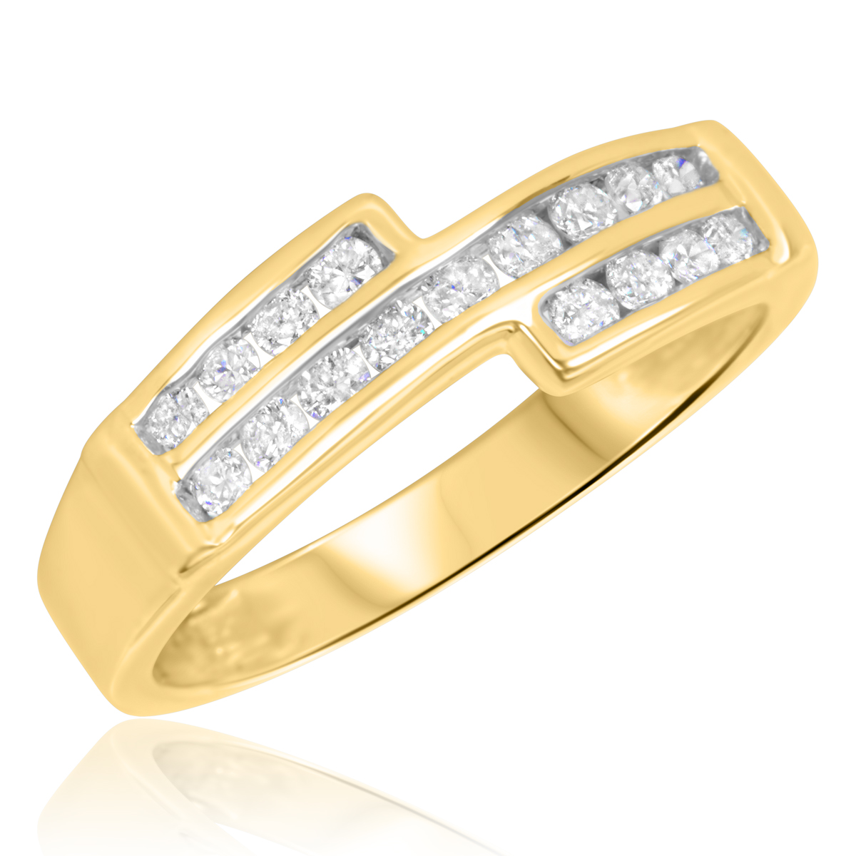 3/8 Carat T.W. Diamond Ladies' Wedding Band 14K Yellow Gold