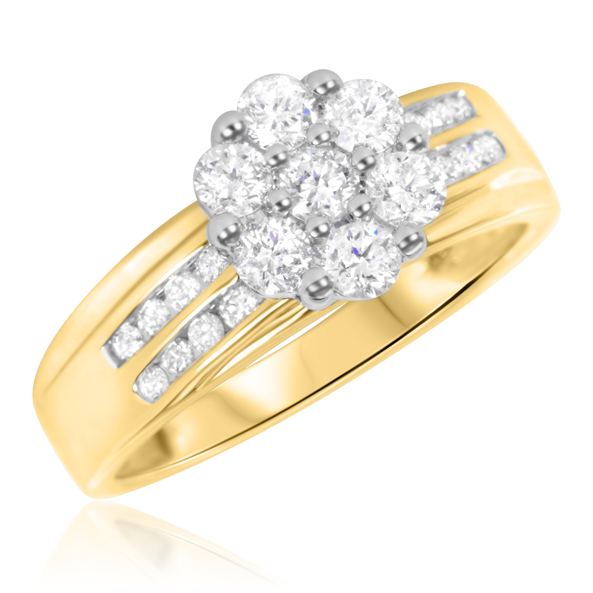 7/8 Carat T.W. Diamond Ladies' Engagement Ring 14K Yellow Gold