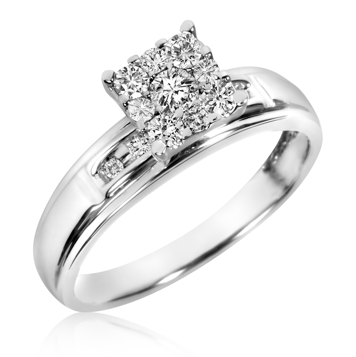 3/8 Carat T.W. Diamond Ladies' Engagement Ring 14K White Gold