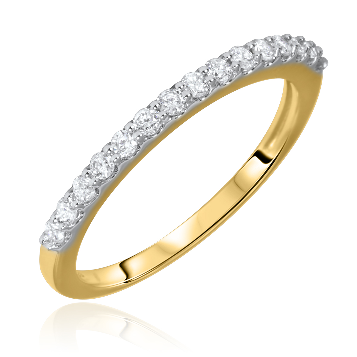 1/3 Carat T.W. Round Cut Diamond Ladies Wedding Band 14K Yellow Gold