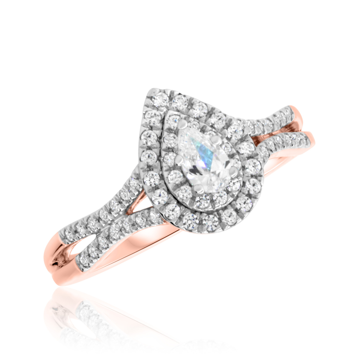1/2 CT. T.W. Diamond Engagement Ring 10K Rose Gold