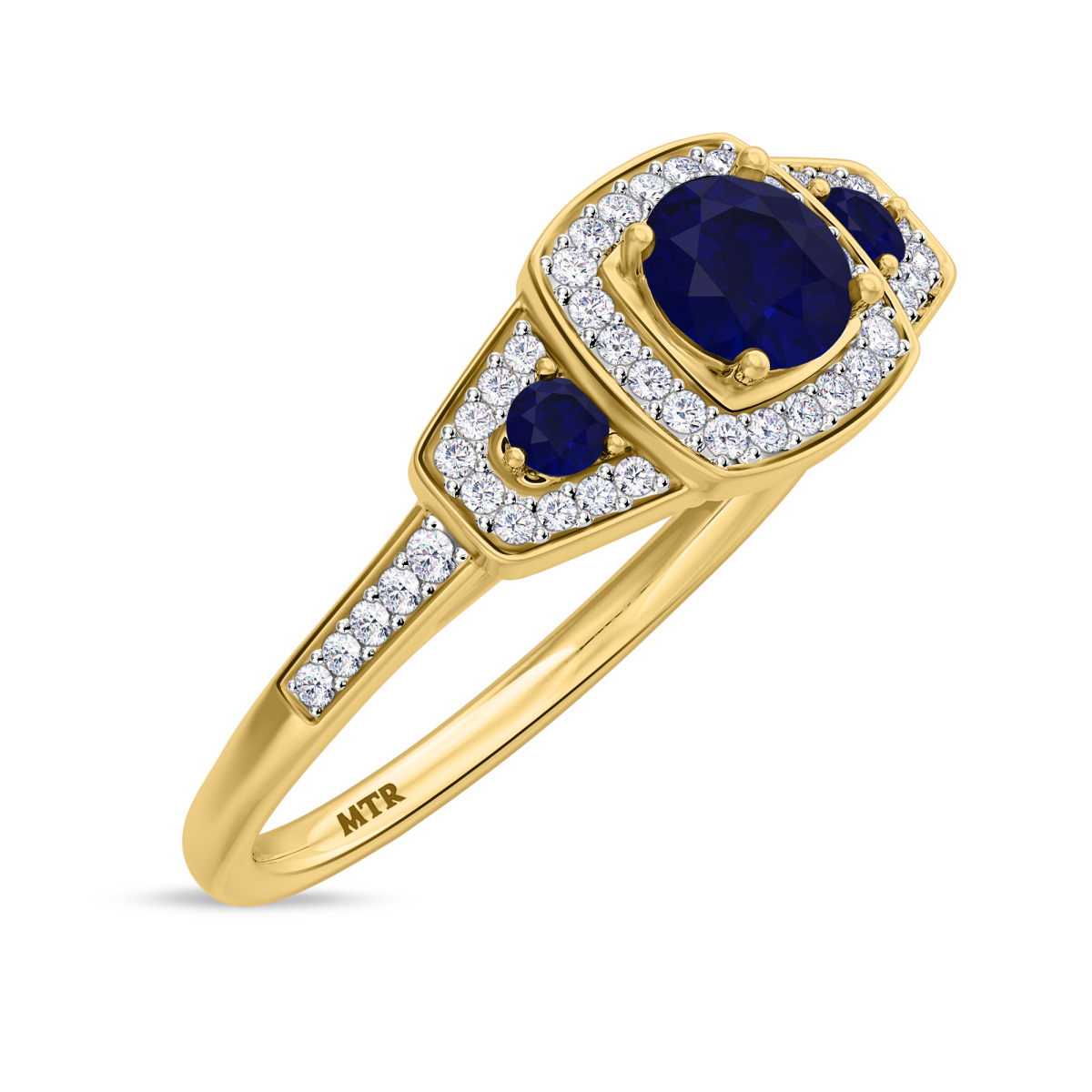 7/8 CT. T.W. Sapphire Engagement Ring 14K Yellow Gold