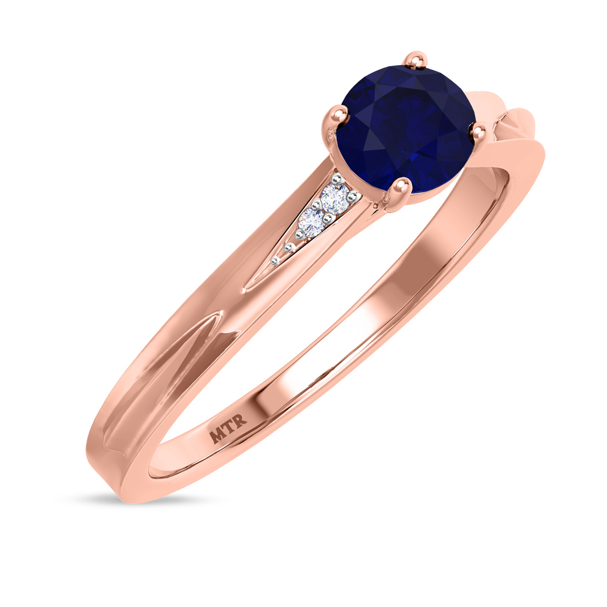 3/4 CT. T.W. Sapphire Engagement Ring 10K Rose Gold