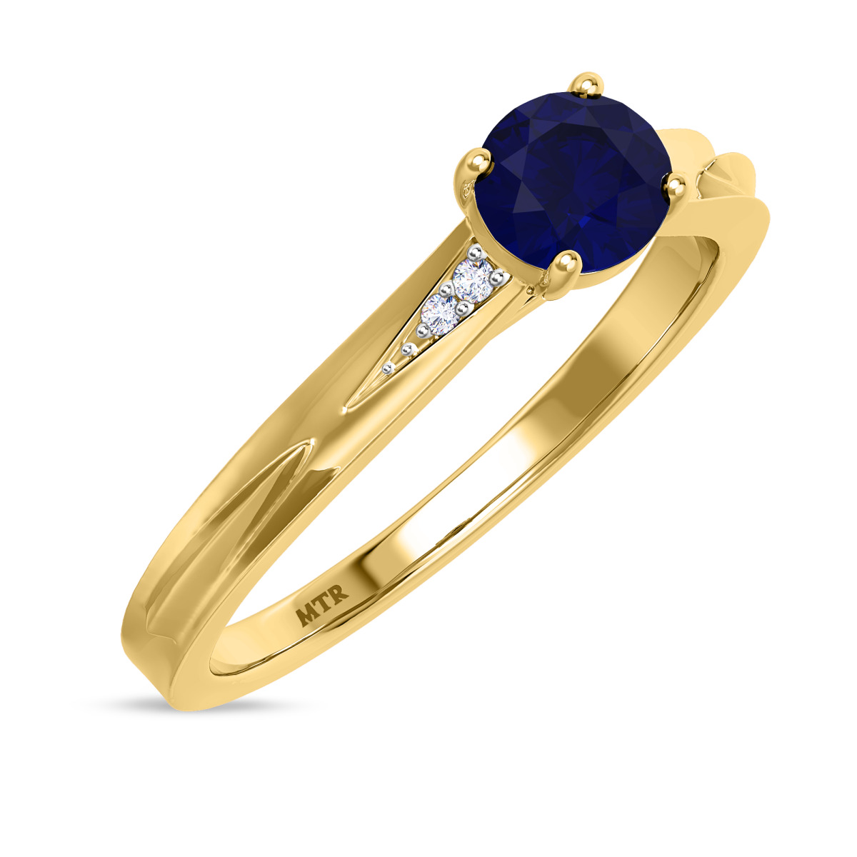 3/4 CT. T.W. Sapphire Engagement Ring 14K Yellow Gold